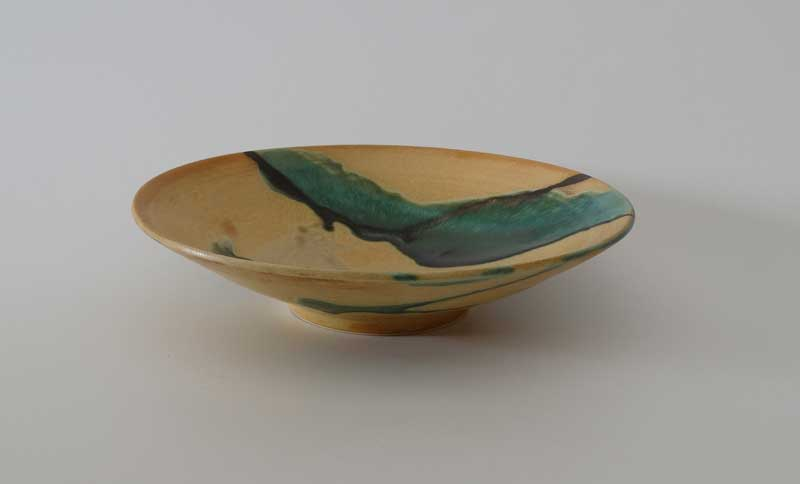 Stoneware Bowl with Ash Glaze; 30 cm x 12 cm